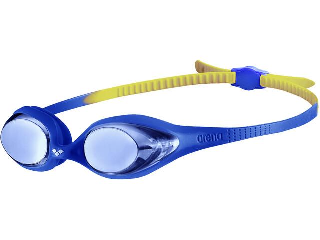 arena Spider Mirror Lunettes de protection Enfant, blue/blue/yellow